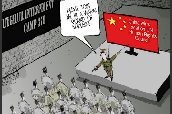 Uyghurs and PRC Cartoon of the Day